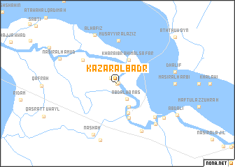 map of Kazār Āl Badr