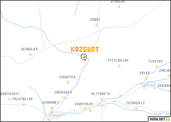 map of Kazgurt