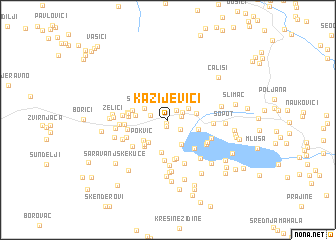 map of Kazijevići