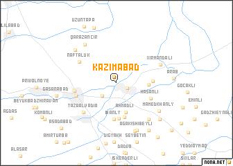 map of Kazımabad
