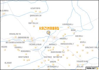 map of Kazımabad