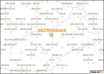 map of Kazimierówka