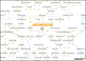 map of Kazimierzów