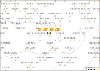 map of Kazimierzów