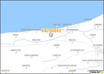 map of Kazimierz