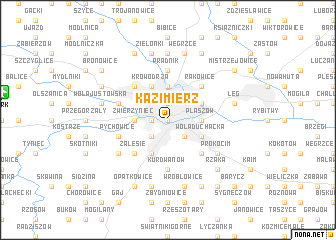 map of Kazimierz