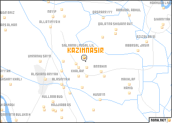 map of Kāz̧im Nāşir
