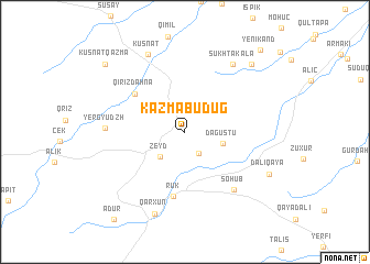 map of Kazmabudug