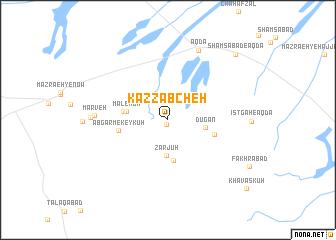 map of Kaẕẕābcheh