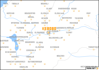 map of Kebaba