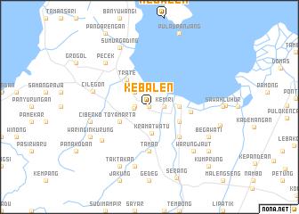 map of Kebalen
