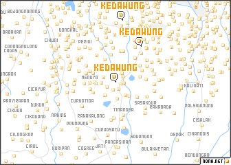 map of Kedawung