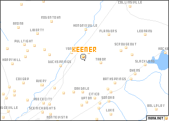 map of Keener
