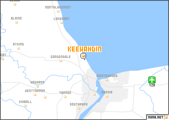 map of Keewahdin
