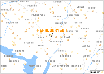 map of Kefalóvryson