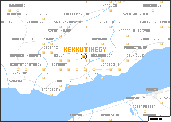map of Kékkútihegy