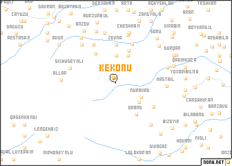 map of Kekonu