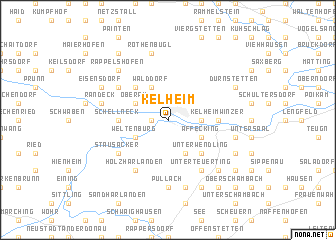 map of Kelheim