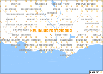 map of Keliduwa Yantrigoda