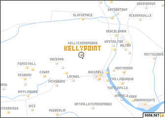 map of Kelly Point