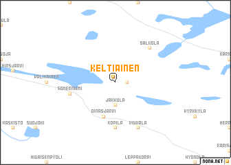 map of Keltiäinen