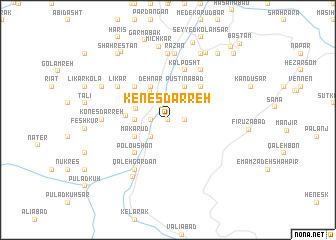 map of Kenes Darreh