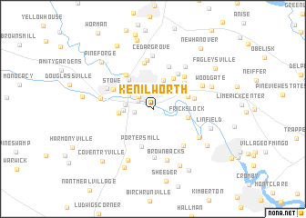 map of Kenilworth