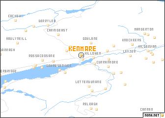 Map Of Ireland Kenmare.Kenmare Ireland Map Nona Net