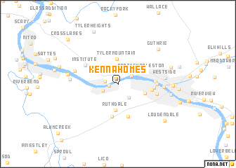 map of Kenna Homes