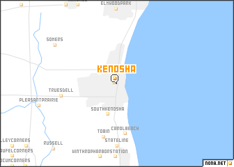 Kenosha United States USA map nonanet