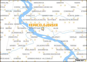 map of Kępa Celejowska
