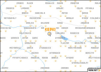map of Kępki