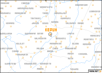 map of Kepuh