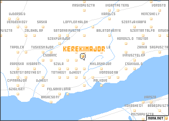 map of Kerekimajor