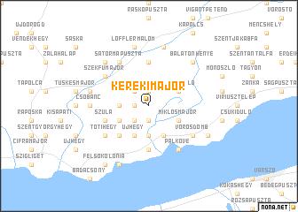 map of Kerekimajor