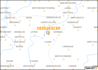 map of Kerguescan