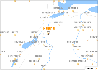 map of Kerns