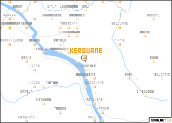 map of Kérouané
