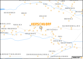 map of Kerschdorf