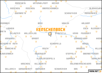 map of Kerschenbach