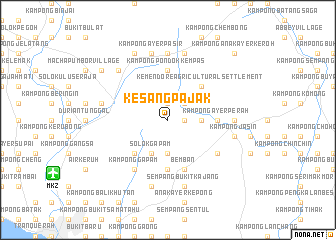 map of Kesang Pajak
