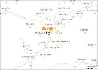 map of Keşdǝk