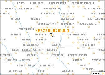 map of Készenváridůlő