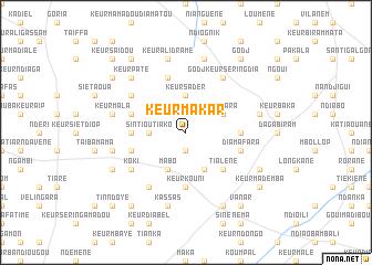 map of Keur Makar