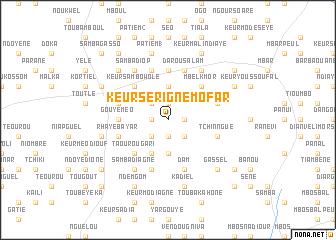 map of Keur Serigne Mofar