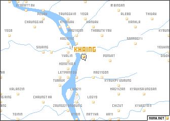 map of Khaing