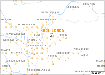 map of Khalīlābād