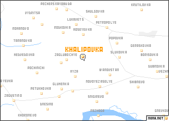 map of Khalipovka