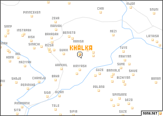 map of Khalka