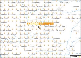 map of Khāmār Bajrāpur